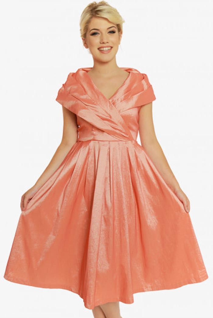 50s Dresses UK | 1950s Dresses, Shoes & Clothing Shops Peach Prom Dress £22.00 AT vintagedancer.com