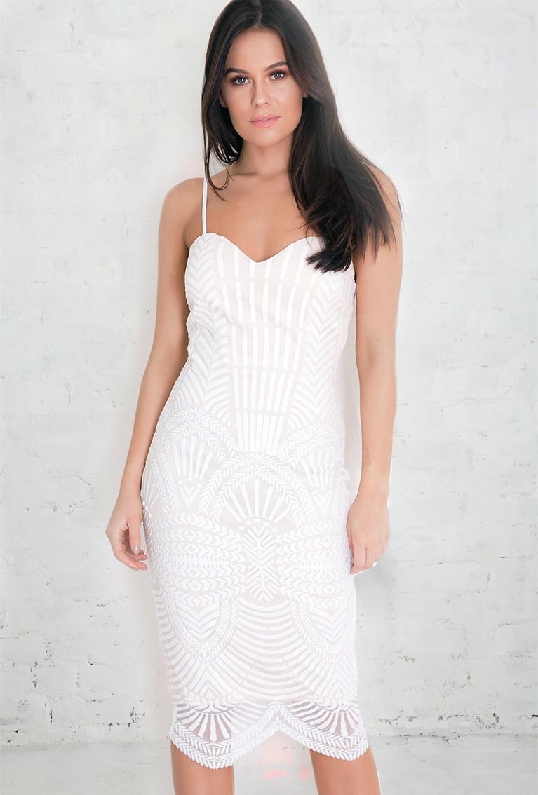 1920s Wedding Dresses- Art Deco Style White Art Deco Dress £31.50 AT vintagedancer.com